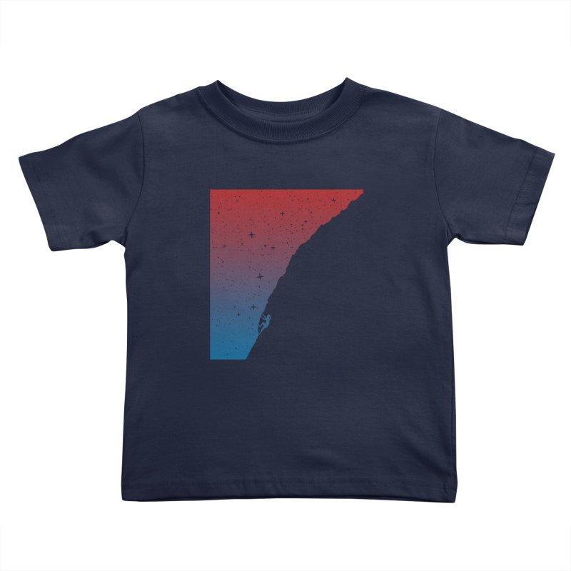Night climbing Kids Toddler T-Shirt by Balazs Solti