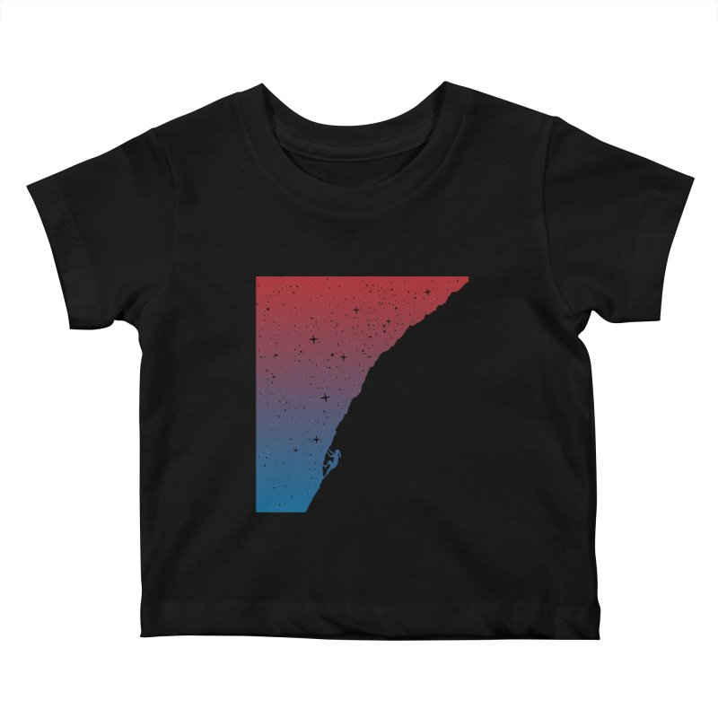 Night climbing Kids Baby T-Shirt by Balazs Solti