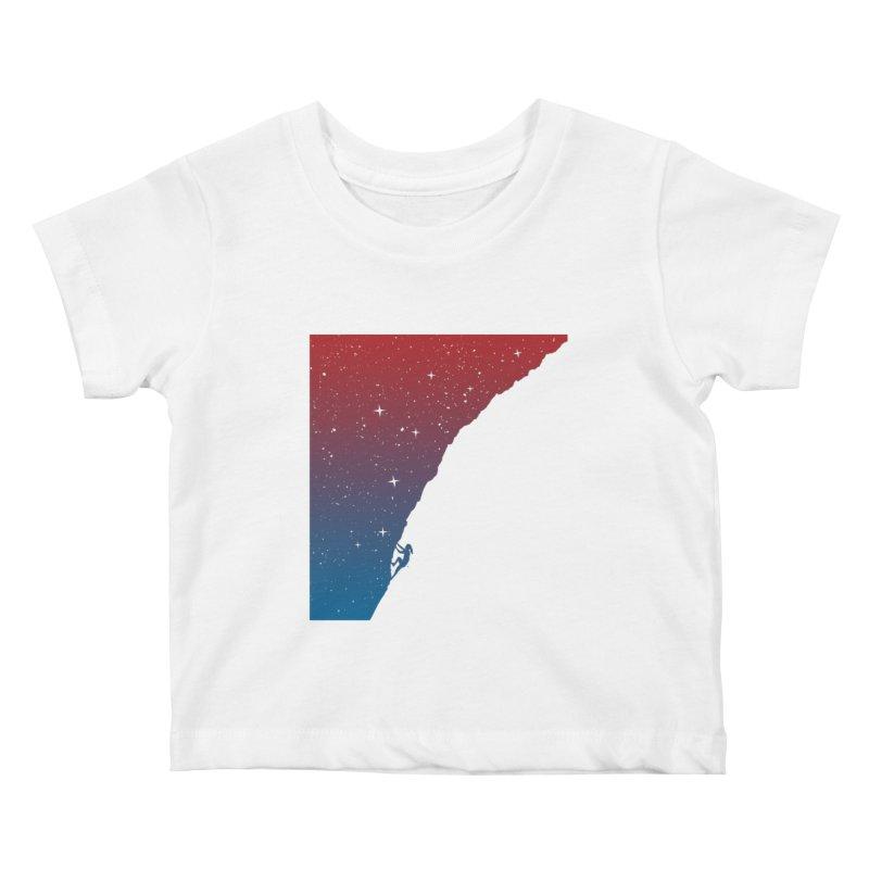 Night climbing Kids Baby T-Shirt by Balazs Solti
