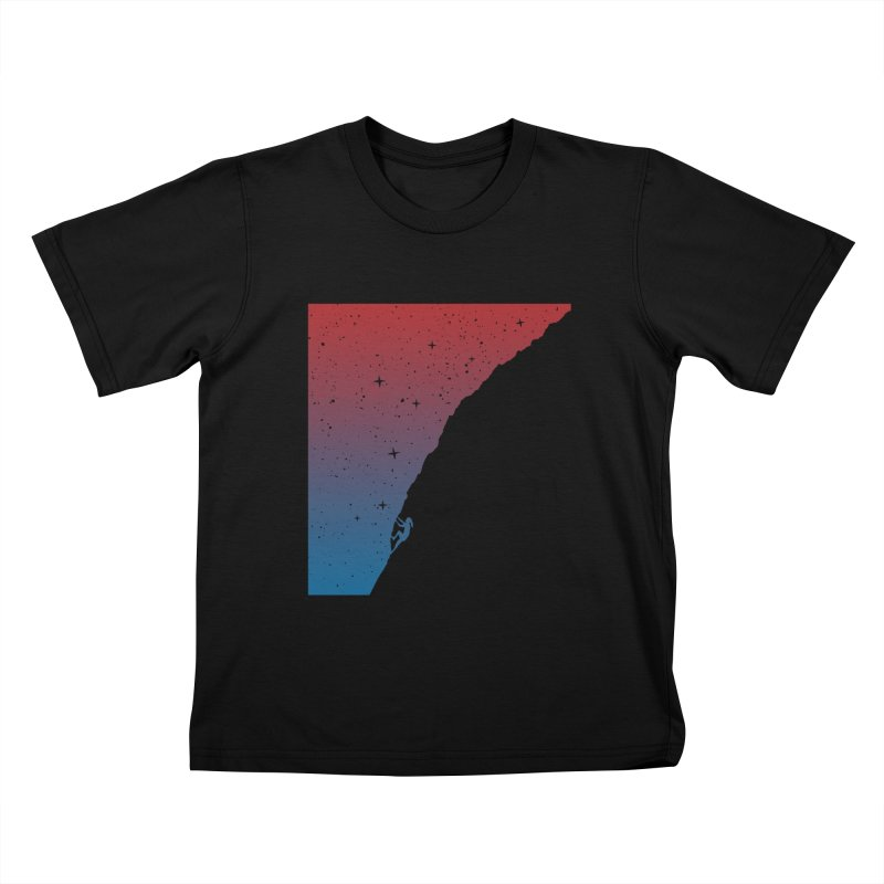 Night climbing Kids T-Shirt by Balazs Solti