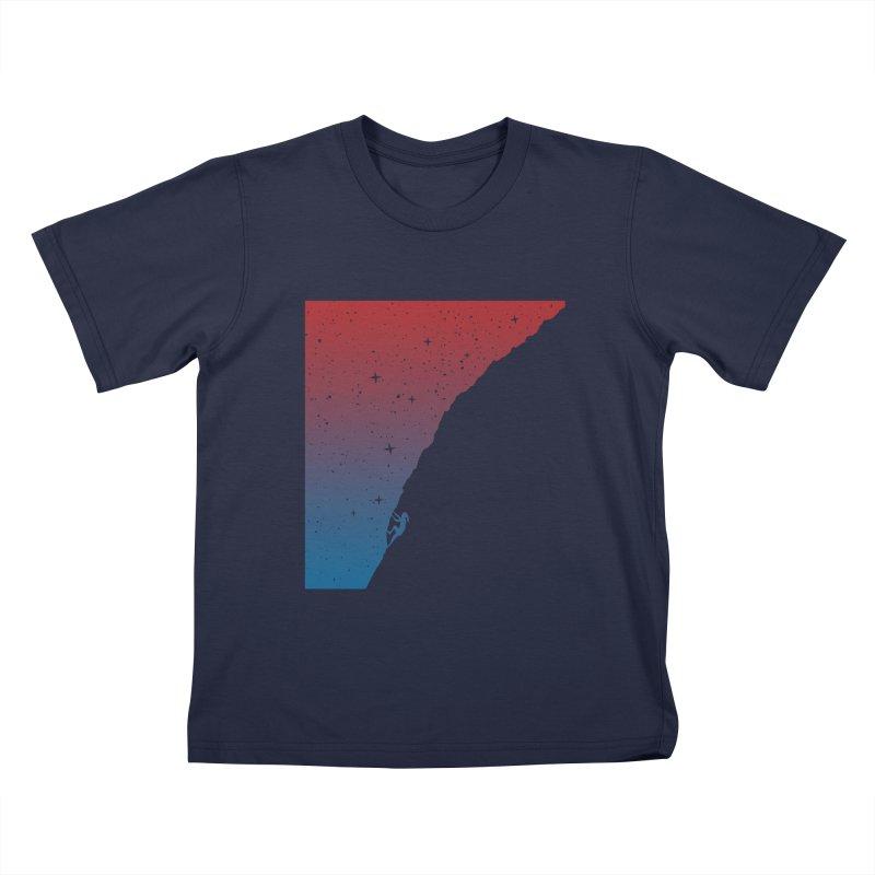Night climbing Kids T-Shirt by Balazs Solti