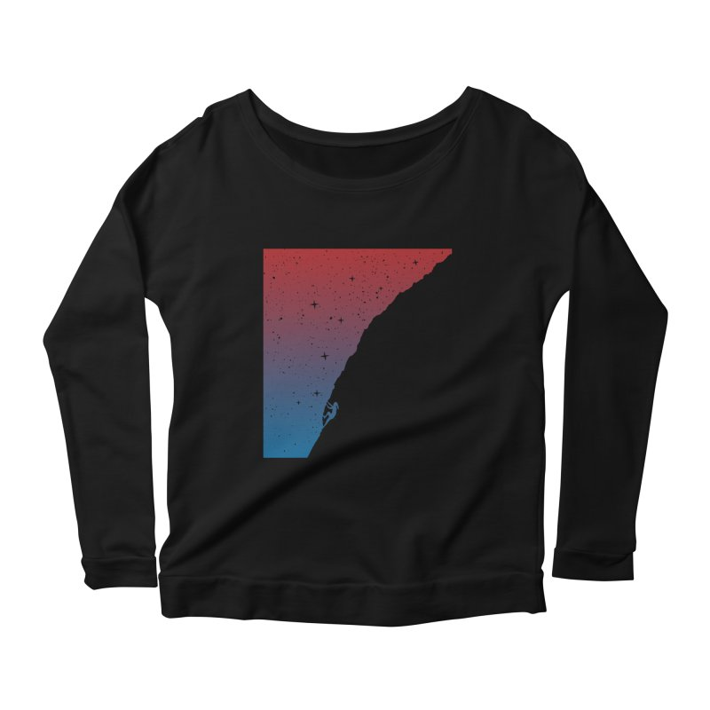 Night climbing Women's Scoop Neck Longsleeve T-Shirt by Balazs Solti