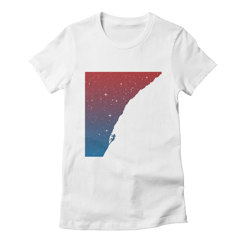 Night climbing Women's Fitted T-Shirt by Balazs Solti
