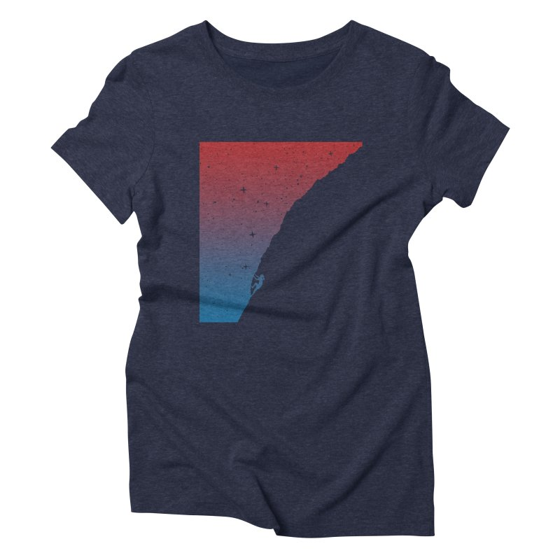 Night climbing Women's Triblend T-Shirt by Balazs Solti
