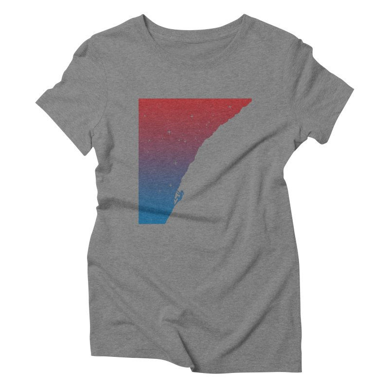 Night climbing Women's Triblend T-Shirt by Balazs Solti