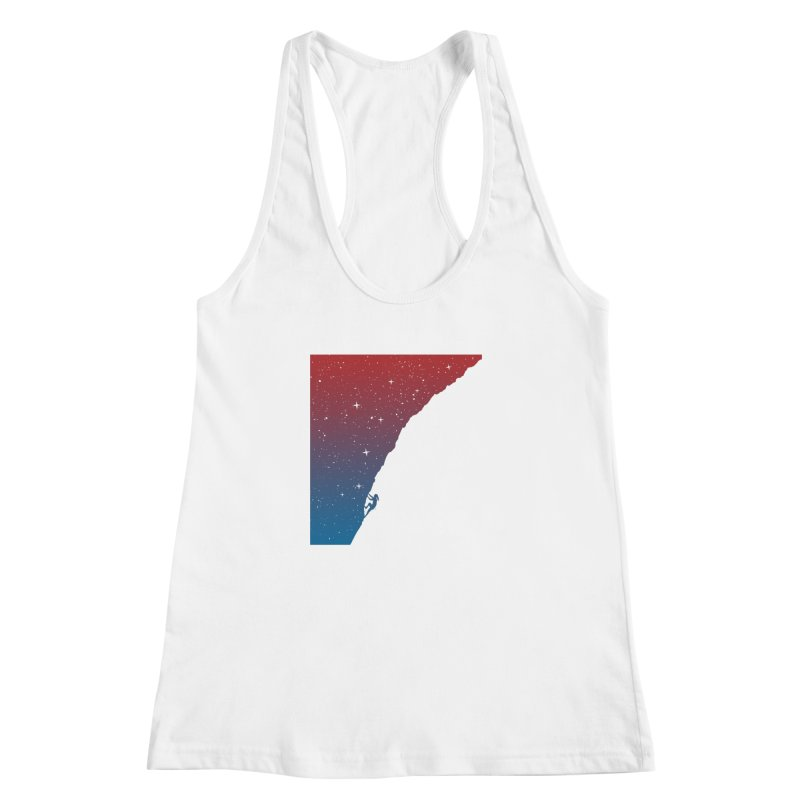 Night climbing Women's Racerback Tank by Balazs Solti