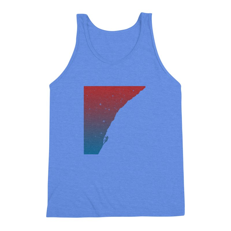 Night climbing Men's Triblend Tank by Balazs Solti