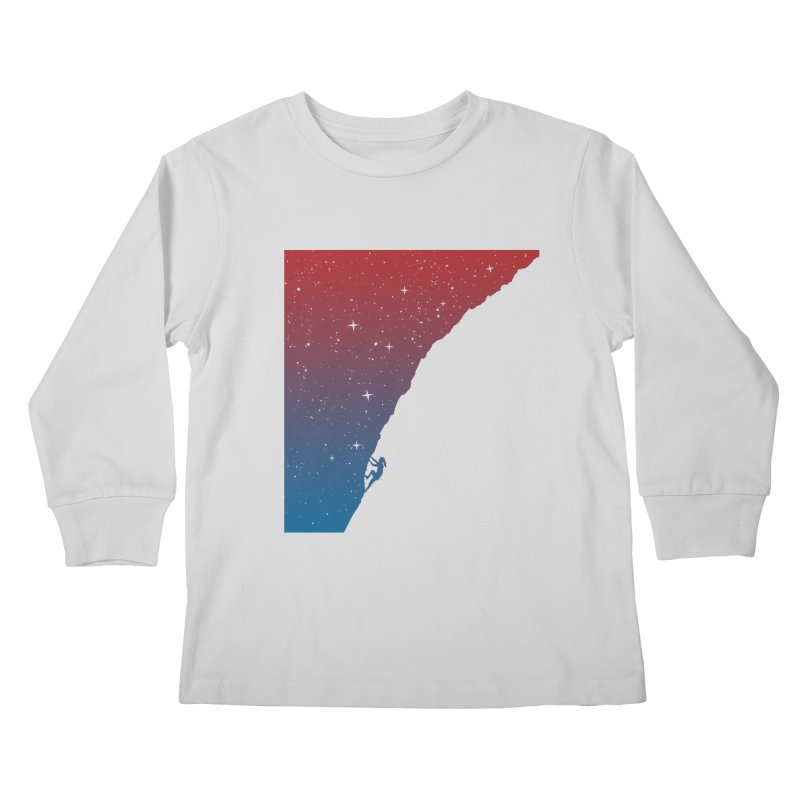 Night climbing Kids Longsleeve T-Shirt by Balazs Solti