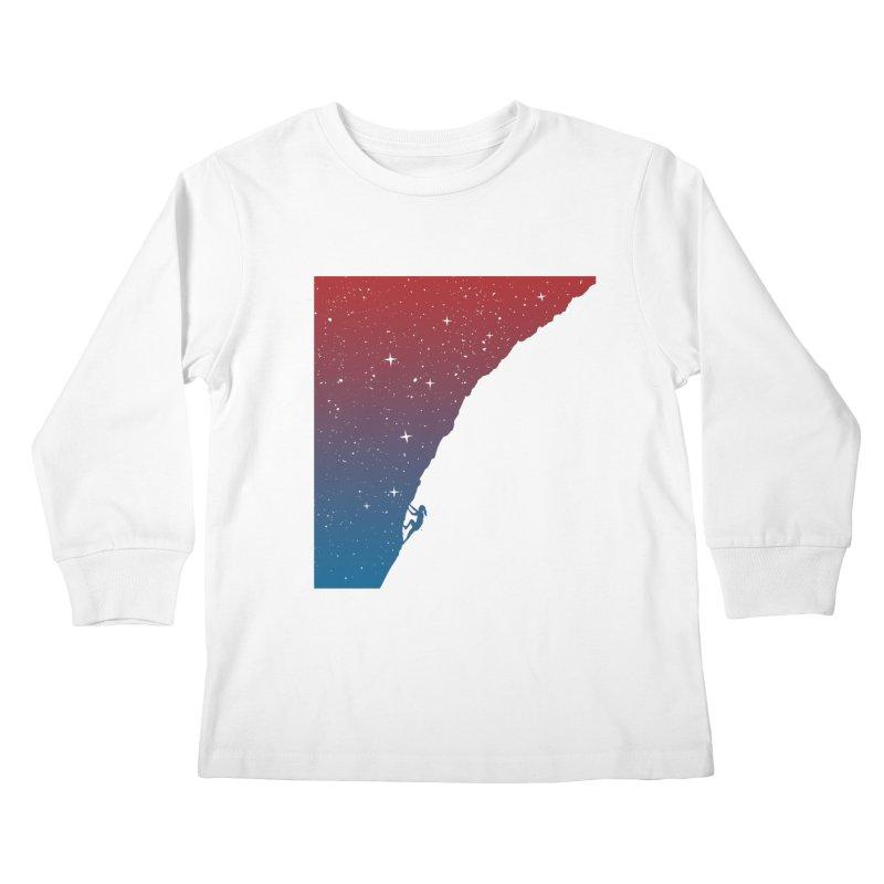 Night climbing Kids Longsleeve T-Shirt by Balazs Solti