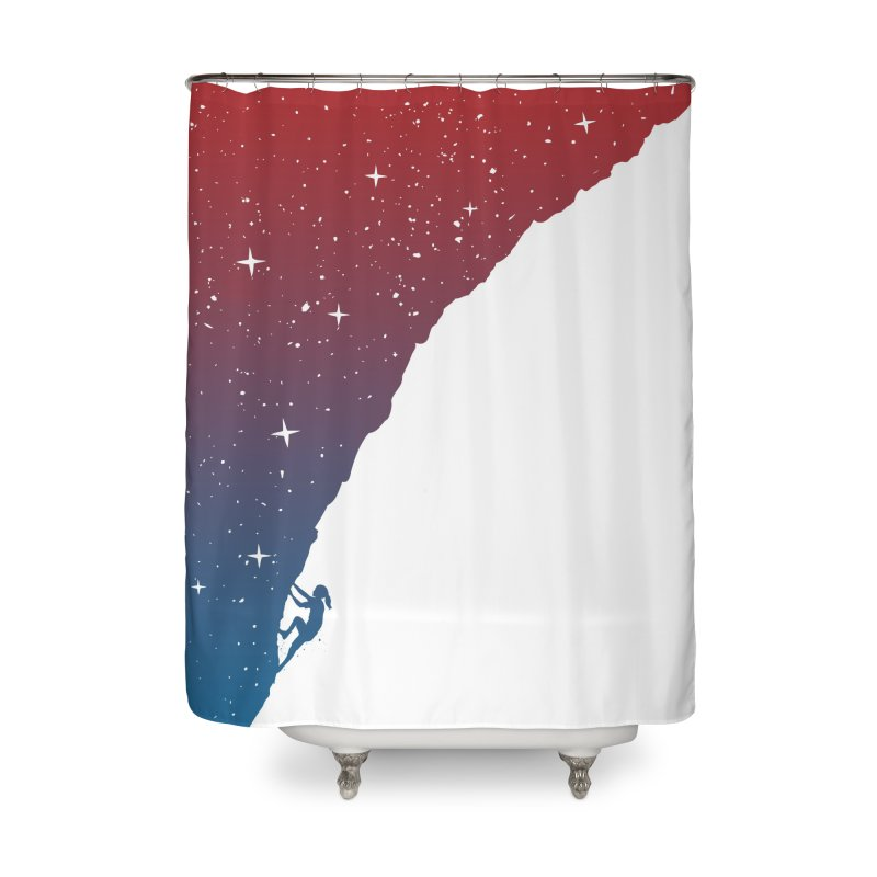 Night climbing Home Shower Curtain by Balazs Solti
