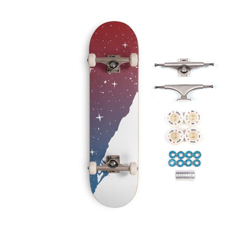 Night climbing Accessories Skateboard by Balazs Solti