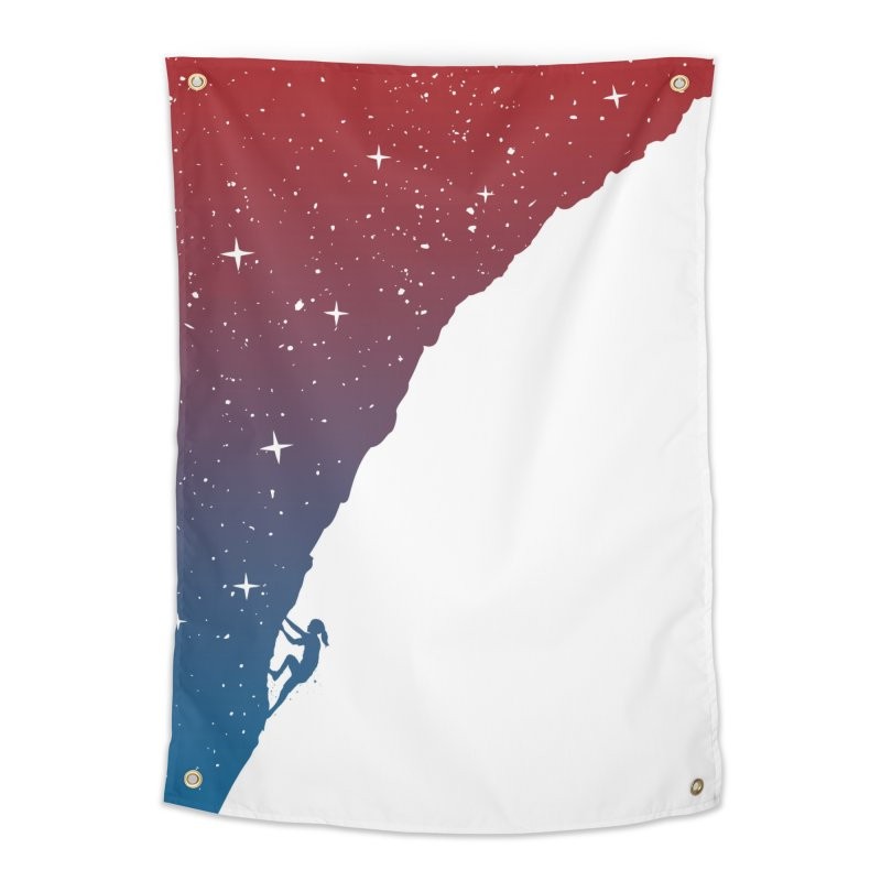 Night climbing Home Tapestry by Balazs Solti
