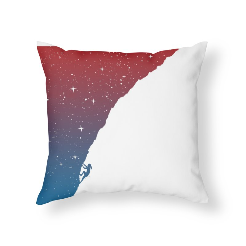Night climbing Home Throw Pillow by Balazs Solti