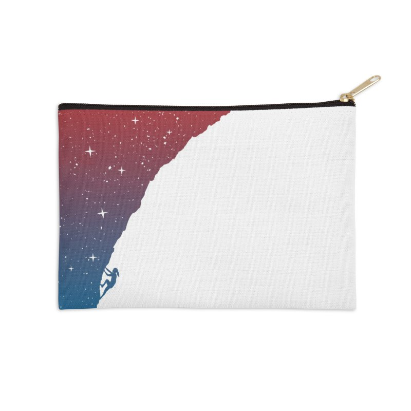 Night climbing Accessories Zip Pouch by Balazs Solti