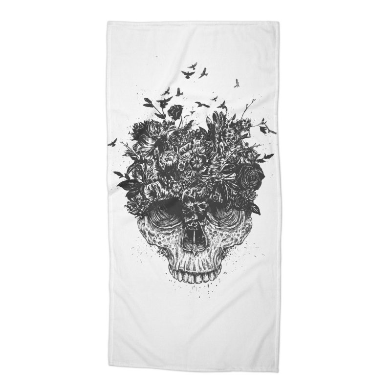 My head is a jungle (bw) Accessories Beach Towel by Balazs Solti