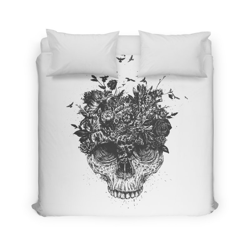 My head is a jungle (bw) Home Duvet by Balazs Solti