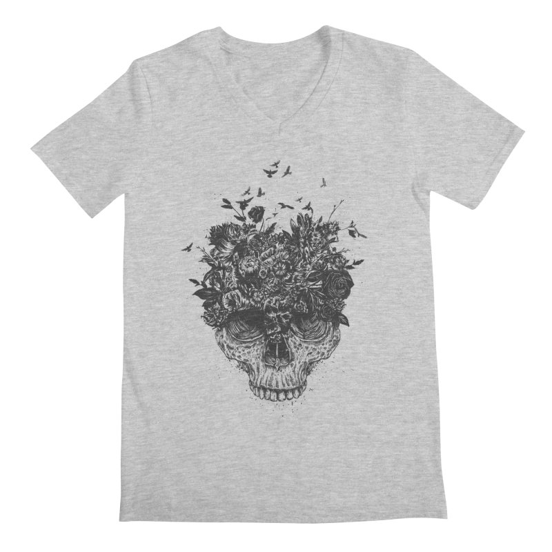 My head is a jungle (bw) Men's V-Neck by Balazs Solti