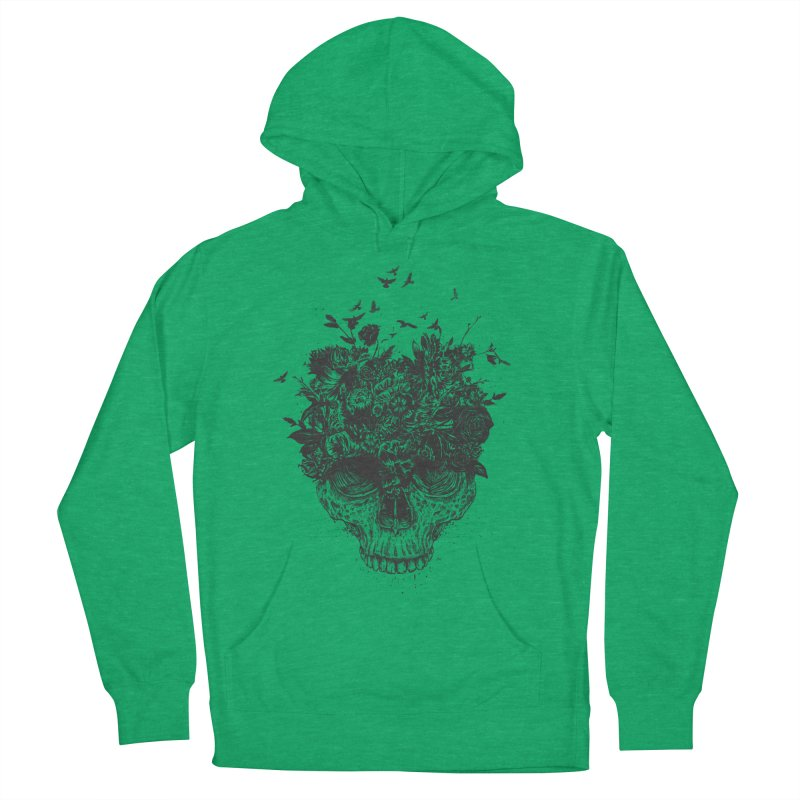 My head is a jungle (bw) Women's Pullover Hoody by Balazs Solti