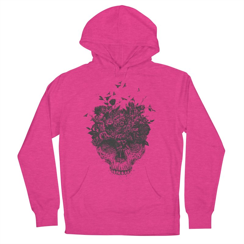 My head is a jungle (bw) Women's French Terry Pullover Hoody by Balazs Solti