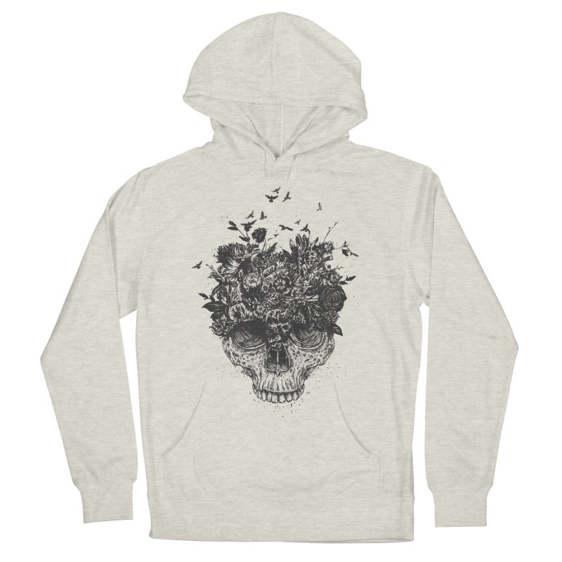 My head is a jungle (bw) Men's French Terry Pullover Hoody by Balazs Solti