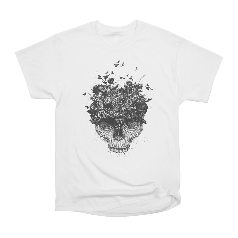 My head is a jungle (bw) Women's Heavyweight Unisex T-Shirt by Balazs Solti