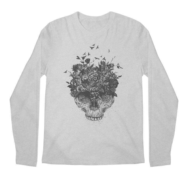 My head is a jungle (bw) Men's Regular Longsleeve T-Shirt by Balazs Solti