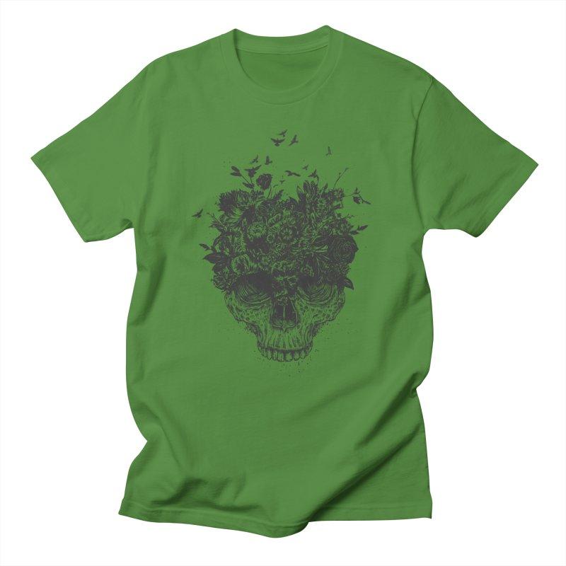 My head is a jungle (bw) Women's Regular Unisex T-Shirt by Balazs Solti