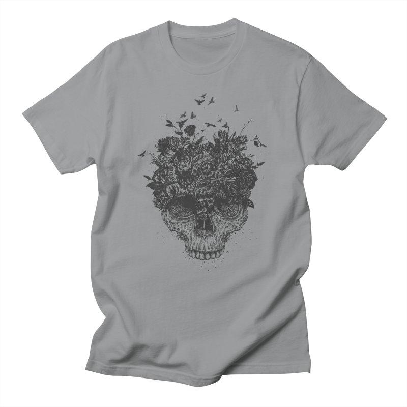 My head is a jungle (bw) Men's Regular T-Shirt by Balazs Solti