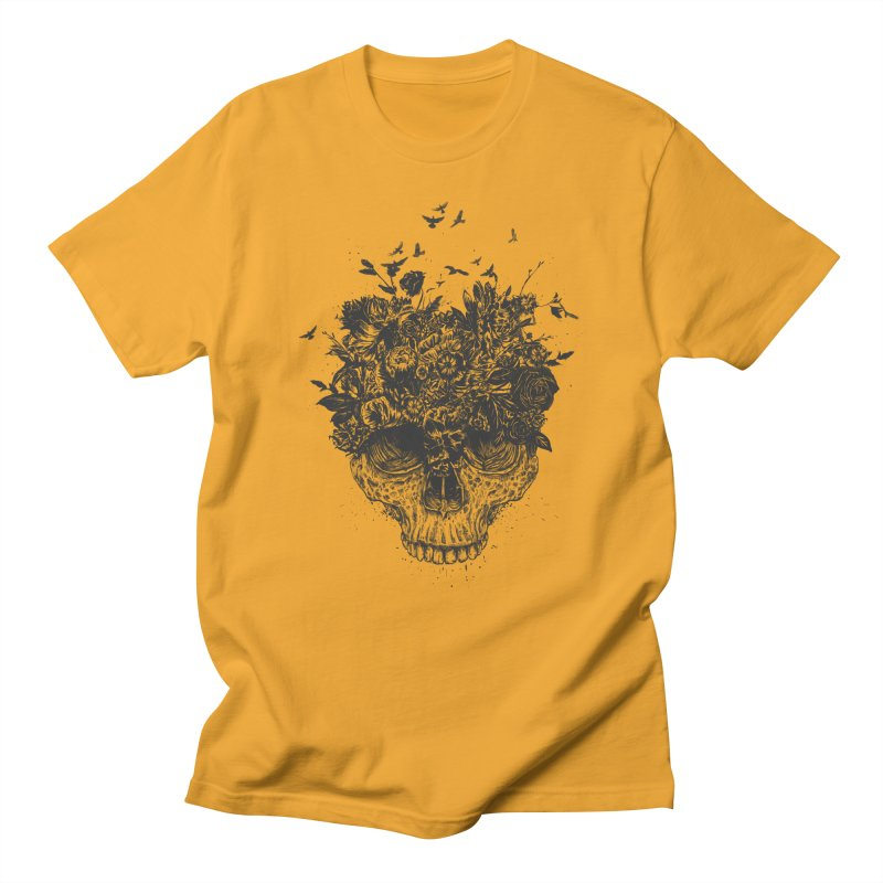 My head is a jungle (bw) Men's Regular T-Shirt by Balazs Solti