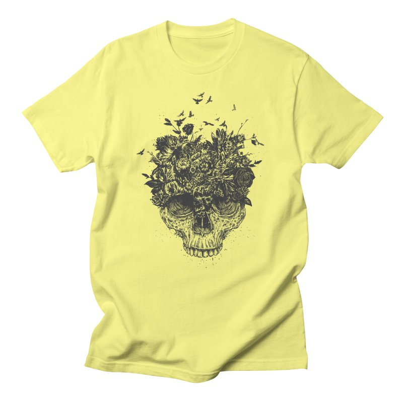 My head is a jungle (bw) Women's Regular Unisex T-Shirt by Balazs Solti