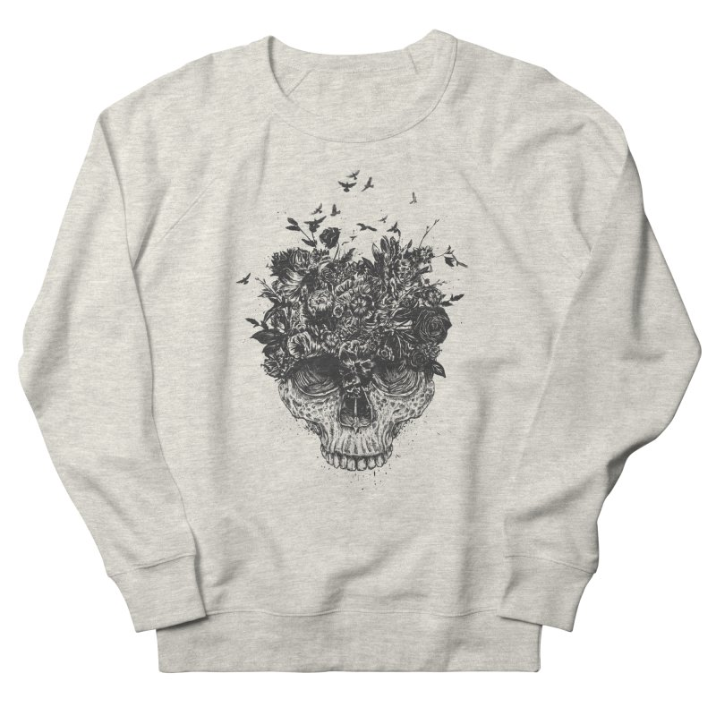 My head is a jungle (bw) Men's French Terry Sweatshirt by Balazs Solti
