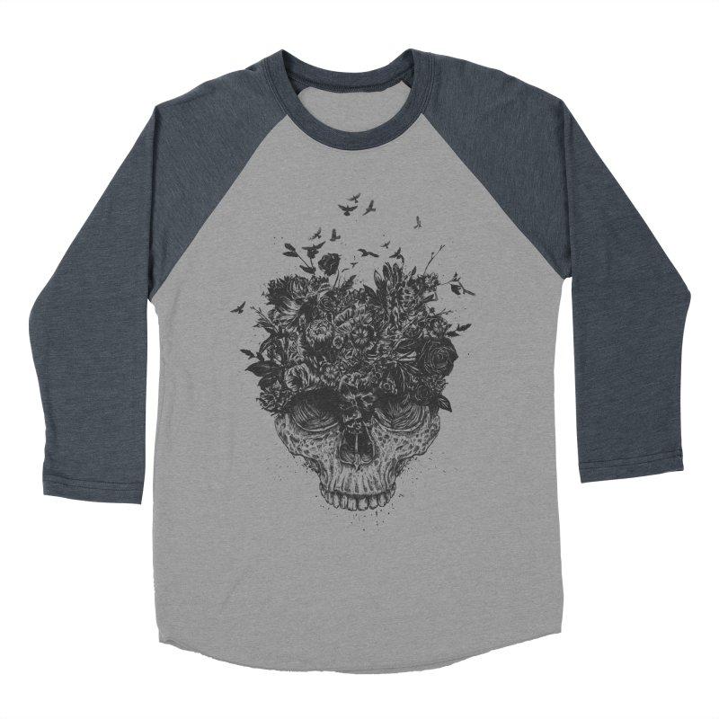 My head is a jungle (bw) Men's Baseball Triblend Longsleeve T-Shirt by Balazs Solti