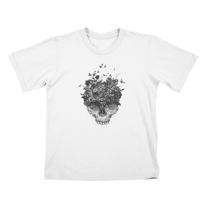 My head is a jungle (bw) Kids Toddler T-Shirt by Balazs Solti