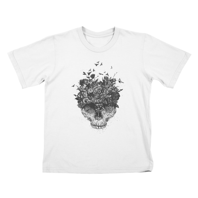 My head is a jungle (bw) Kids T-Shirt by Balazs Solti