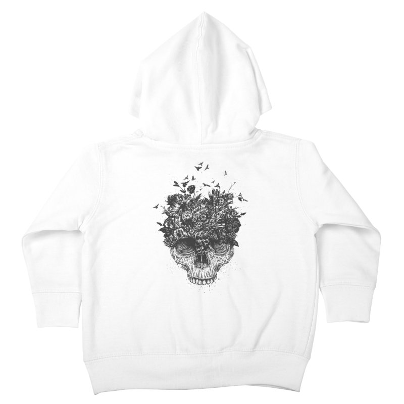 My head is a jungle (bw) Kids Toddler Zip-Up Hoody by Balazs Solti