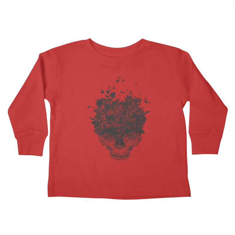 My head is a jungle (bw) Kids Toddler Longsleeve T-Shirt by Balazs Solti