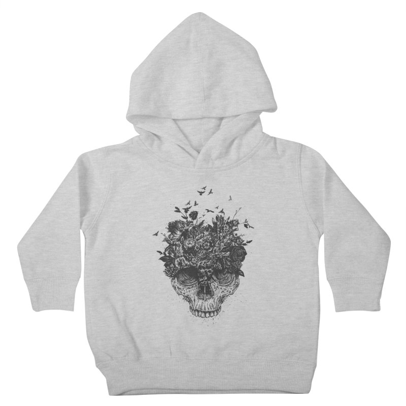 My head is a jungle (bw) Kids Toddler Pullover Hoody by Balazs Solti