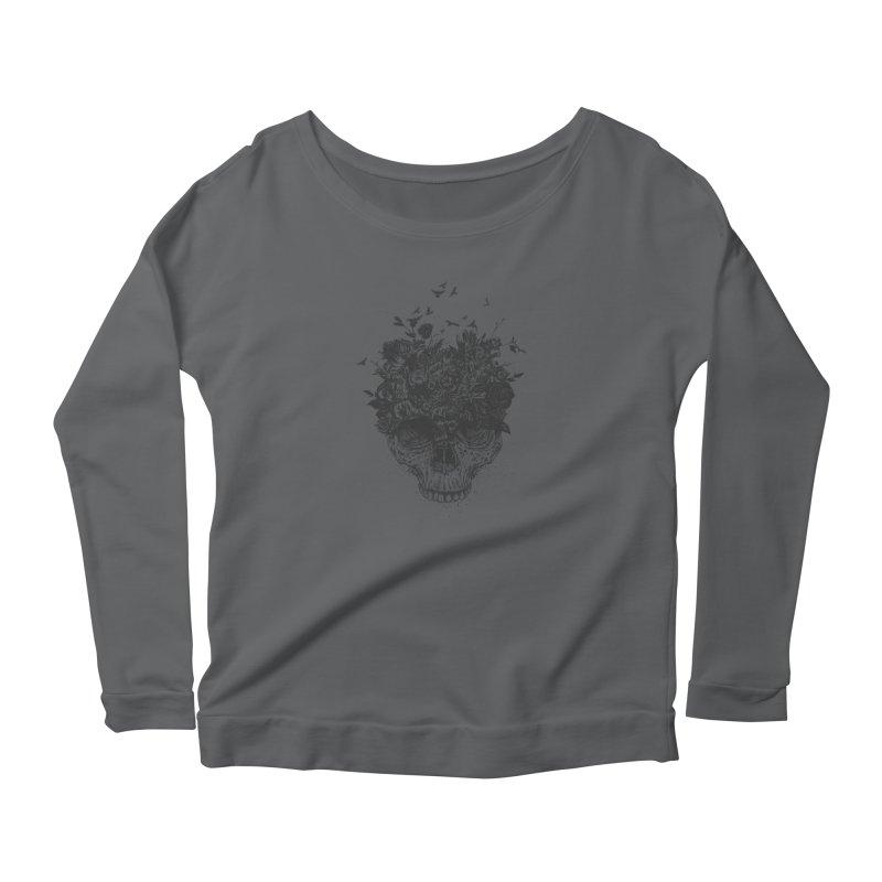 My head is a jungle (bw) Women's Longsleeve T-Shirt by Balazs Solti
