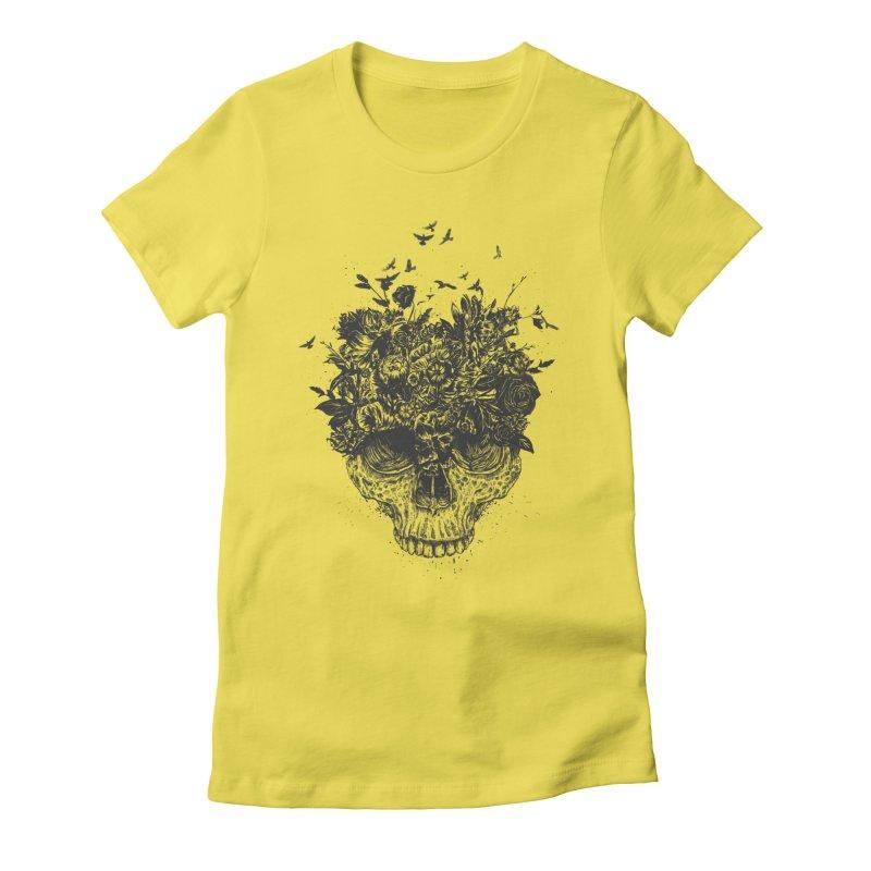 My head is a jungle (bw) Women's T-Shirt by Balazs Solti