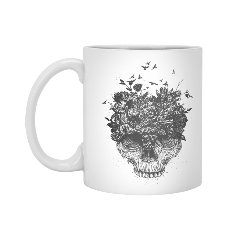 My head is a jungle (bw) Accessories Mug by Balazs Solti