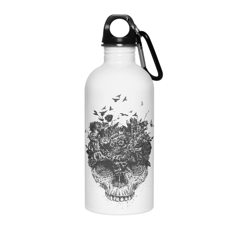 My head is a jungle (bw) Accessories Water Bottle by Balazs Solti