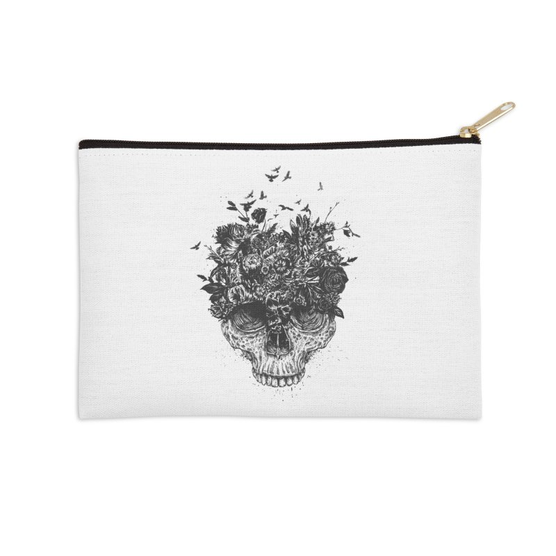My head is a jungle (bw) Accessories Zip Pouch by Balazs Solti