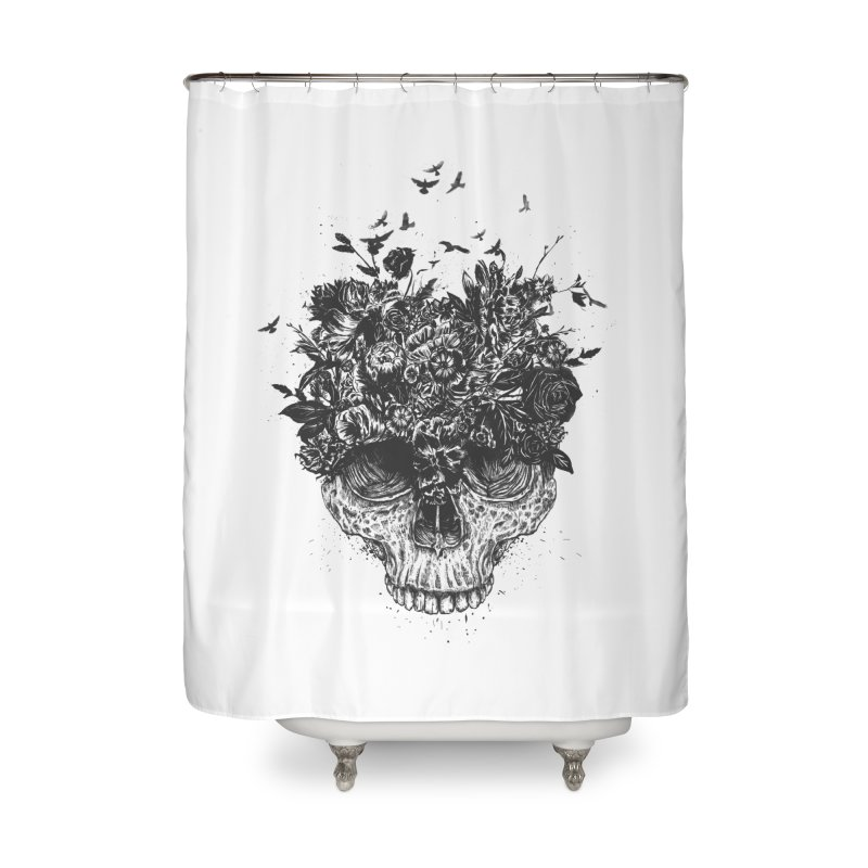 My head is a jungle (bw) Home Shower Curtain by Balazs Solti