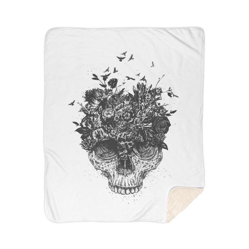My head is a jungle (bw) Home Blanket by Balazs Solti
