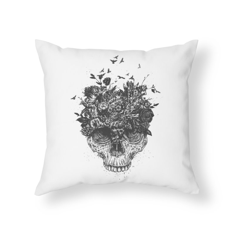 My head is a jungle (bw) Home Throw Pillow by Balazs Solti