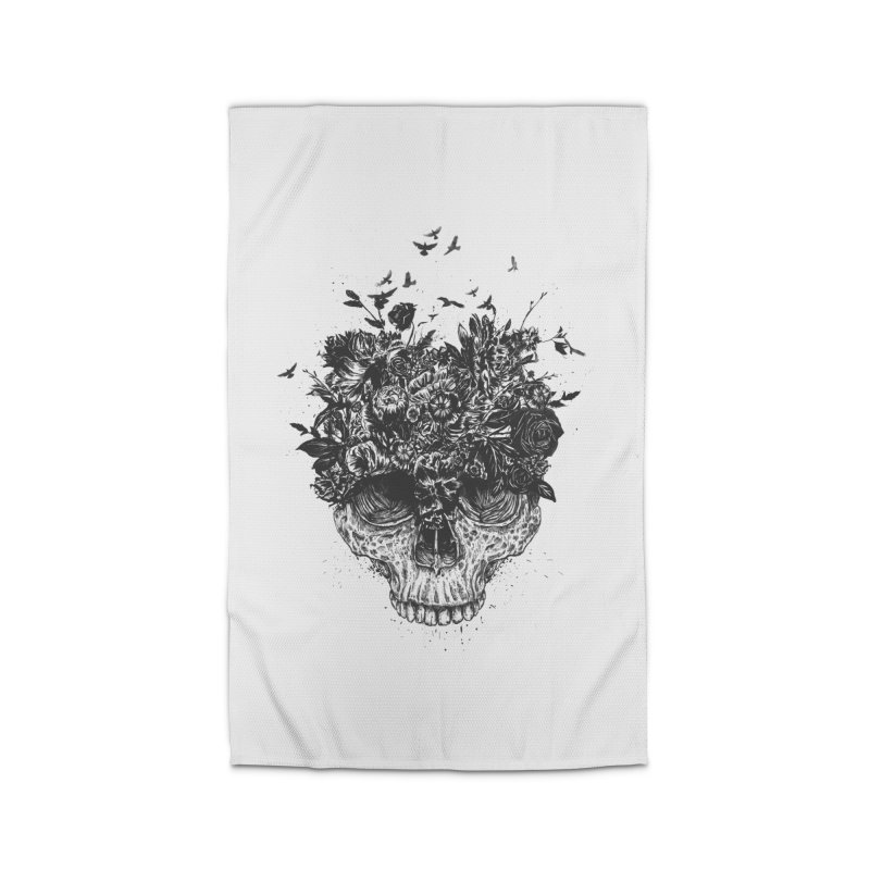 My head is a jungle (bw) Home Rug by Balazs Solti
