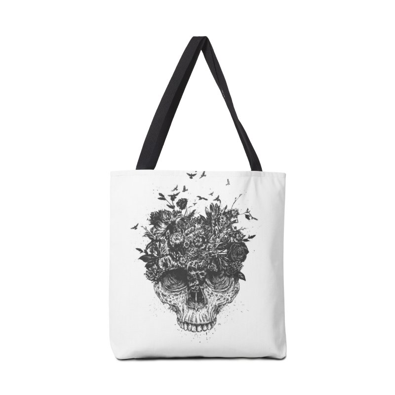My head is a jungle (bw) Accessories Tote Bag Bag by Balazs Solti