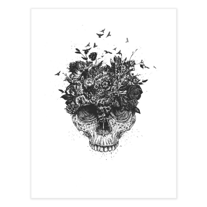 My head is a jungle (bw) Home Fine Art Print by Balazs Solti
