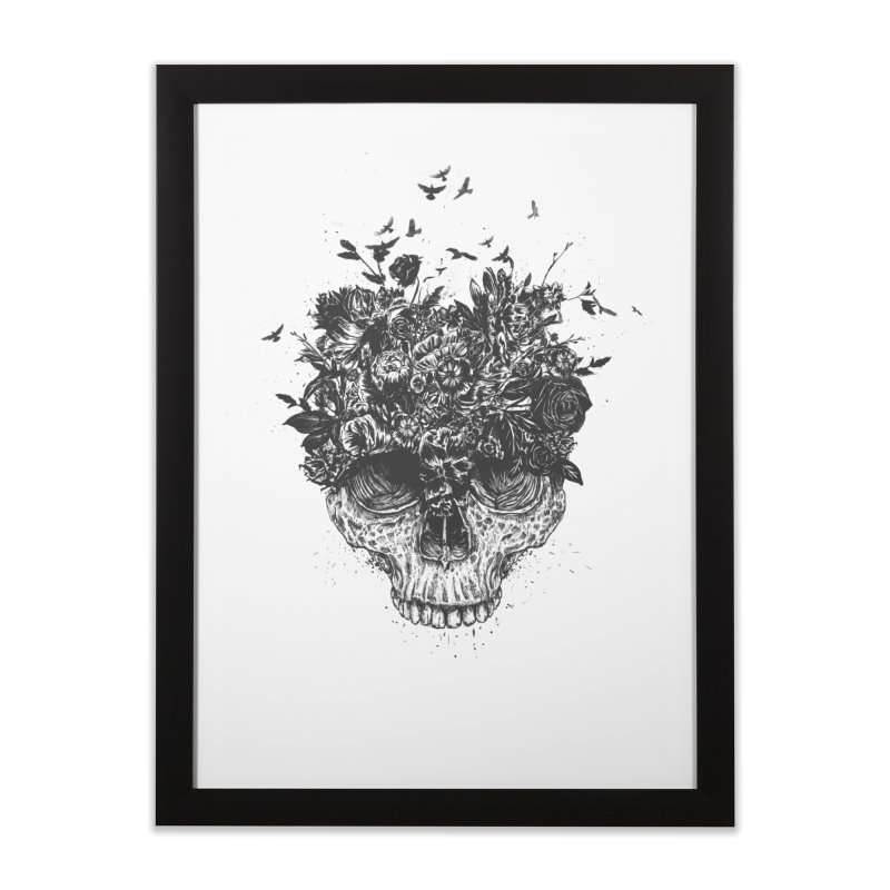My head is a jungle (bw) Home Framed Fine Art Print by Balazs Solti