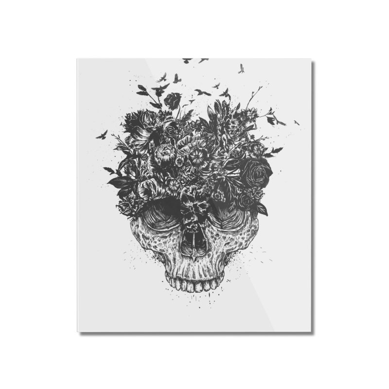 My head is a jungle (bw) Home Mounted Acrylic Print by Balazs Solti